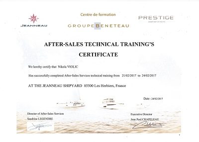 Technical training of euromarine employees